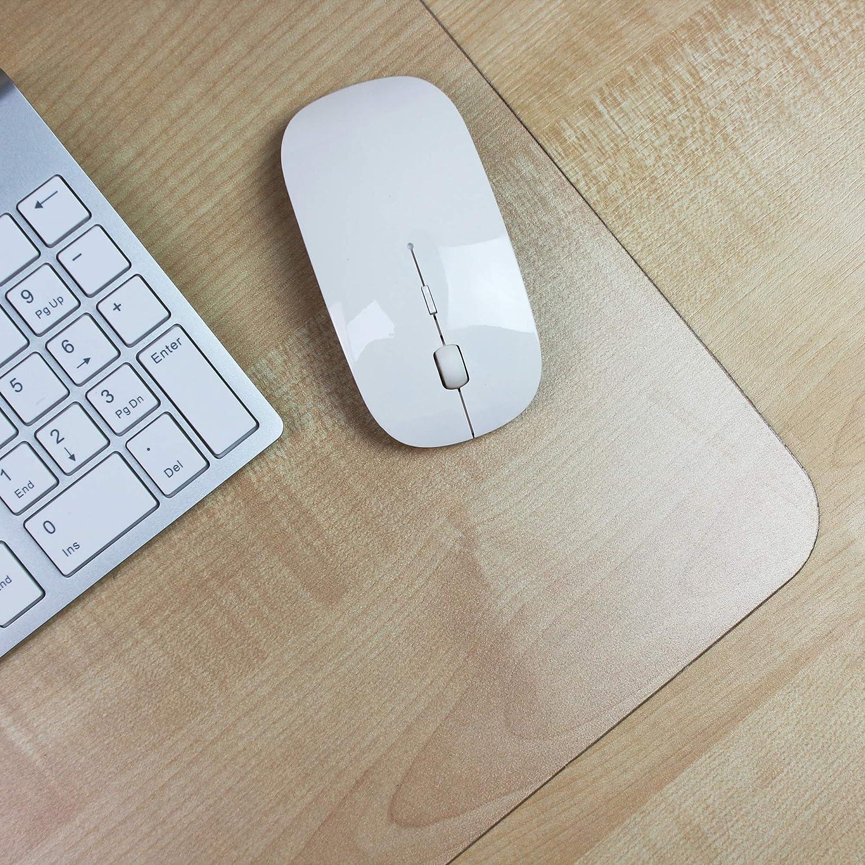 Desktex 48/x 61/cm rettangolare proteggi scrivania in policarbonato con retro antiscivolo Clear trasparente 17 x 22