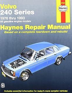 volvo 240 series 1976 thru 1993 all gasoline engine models haynes rh amazon com 93 Volvo 850 Rear Control Arm 93 Volvo 850 Trailing Arm
