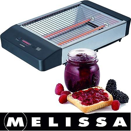 Melissa 600 W Tostadora plana - Mesa röster con extraíble Bandeja ...