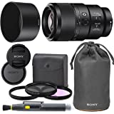 Sony FE 90mm f/2.8 Macro G OSS Lens with Sony Lens Pouch, UV Filter, Circular Polarizing Filter, Fluorescent Day Filter…