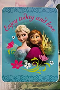 "S&L Home Fashion Disney Frozen Enjoy Today and Love Royal Plush Rushel Throw 60""x80"" Super Soft & Cozy 100% Polyester"