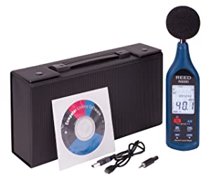 REED Instruments R8080 Sound Level Meter, Datalogger with Bargraph, 30 to 130 dB (Color: Black/Blue)