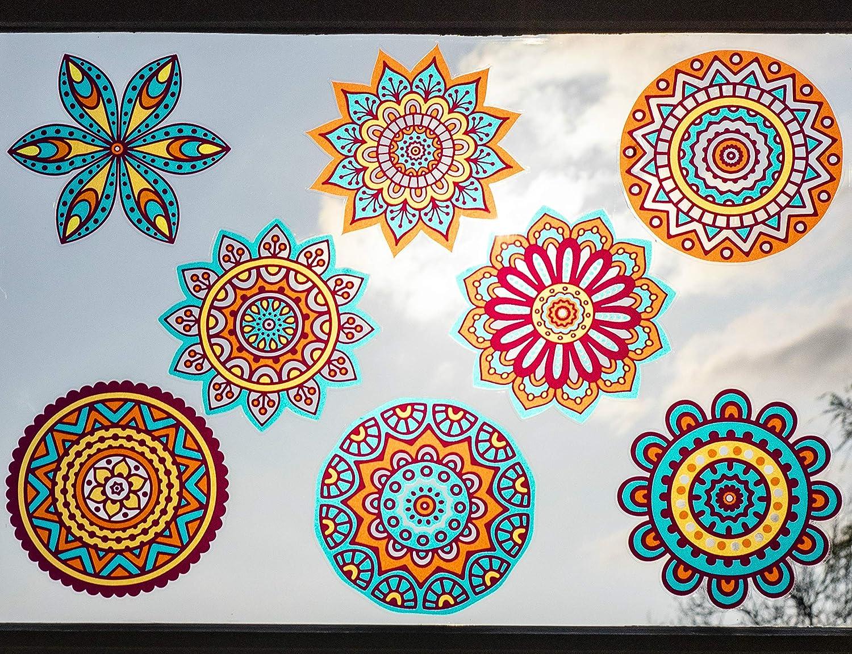 Design 1 Suncatchers for Windows Decoration Bohemian Decor Mandala Sun Catchers Window Stickers