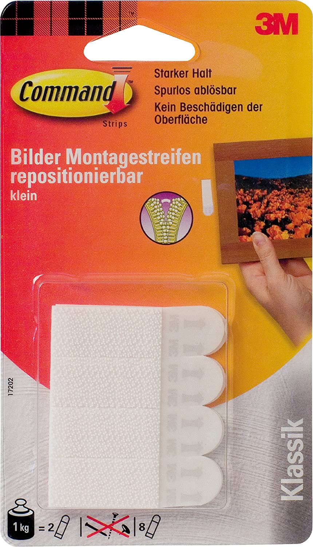 Command Bilder Montagestreifen - Bandas adhesivas de agarre intenso (2 = carga de hasta 1 kg) 3M 17202 hz341720200