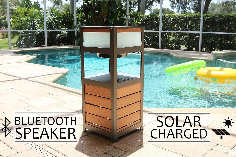 Amazon.com: SOLAR POWERED OUTDOOR SPEAKER , BLUETOOTH PATIO SPEAKER ...