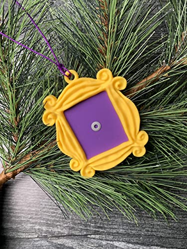 FRIENDS TV Show Peephole Frame Christmas Ornament Yellow Peep Hole Door Frame Monica Door Gift Decor Must Have Friends Fan Family