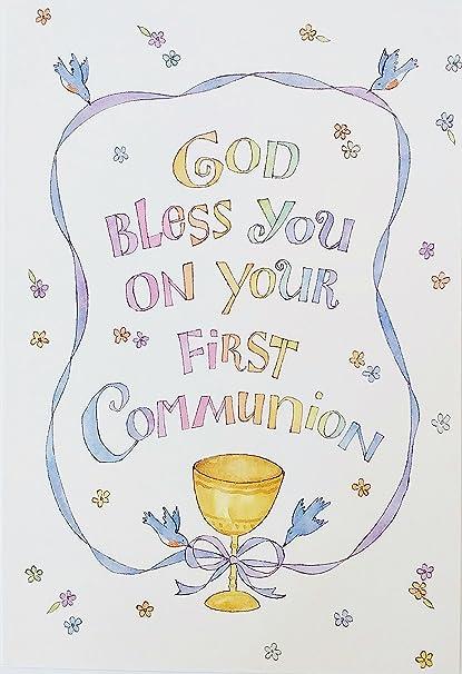 Dios Te Bendiga En Su Primera Comunión tarjeta de ...
