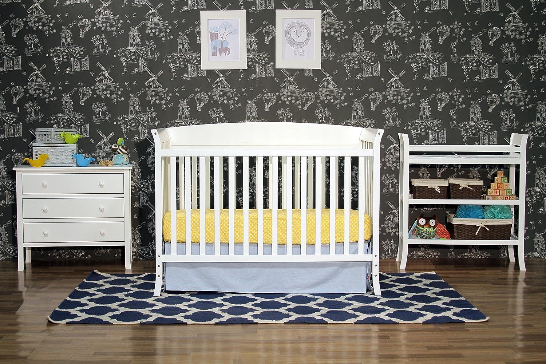 Amazon.com : DaVinci Tyler 5 Piece Nursery Set Two Boxes, White : Cribs :  Baby
