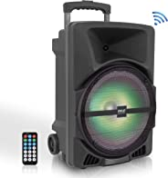 Pyle Wireless Portable PA Speaker System - 800W High Powered Bluetooth Compatible Indoor & Outdoor DJ Sound Stereo Loudspeak