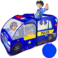 Police Car Pop Up Play Tent for Kids, Toddlers, Boys, Girls, Indoors & Outdoors – Playhouse for Interactive Fun…