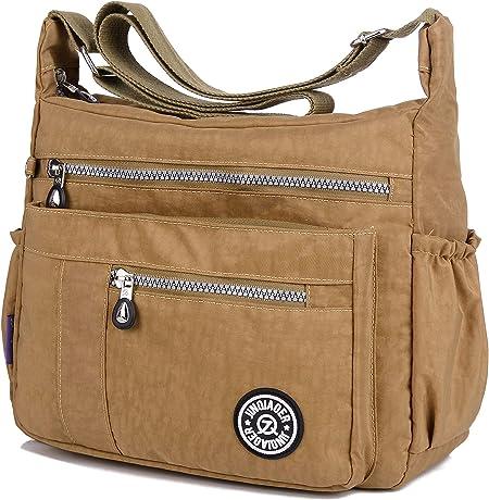 Damen Taschen Umhängetaschen Handtasche Messenger Cross Body Nylon Shopper DE