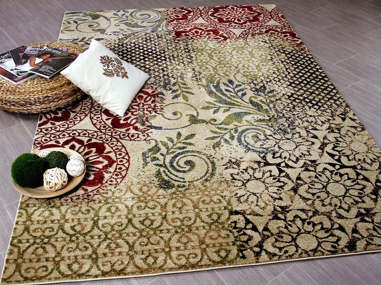 Suite Designer Teppich Vintage Beige in 5 Größen