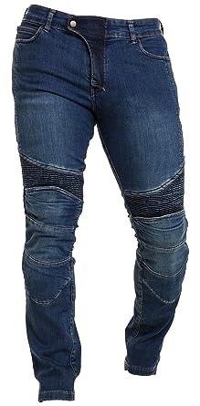 Qaswa Hombre Moto Jeans Ciclista Reforzado Protección Pantalones Lining Incluyen Armaduras Denim Motorcycle Pants