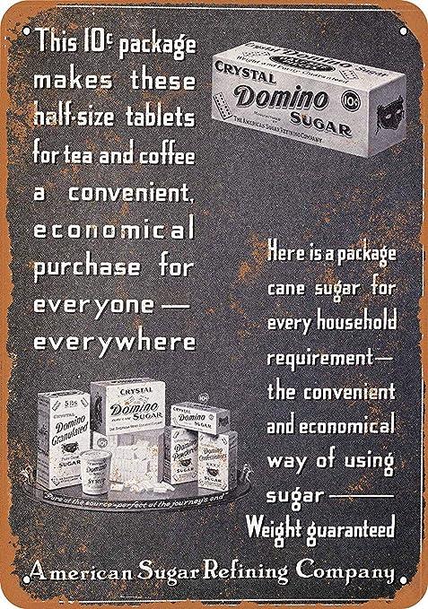 LORENZO Crystal Domino Sugar Vintage Metal Cartel de Chapa ...