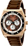 Caravelle New York Men's 45A114 Analog Display Japanese Quartz Brown Watch