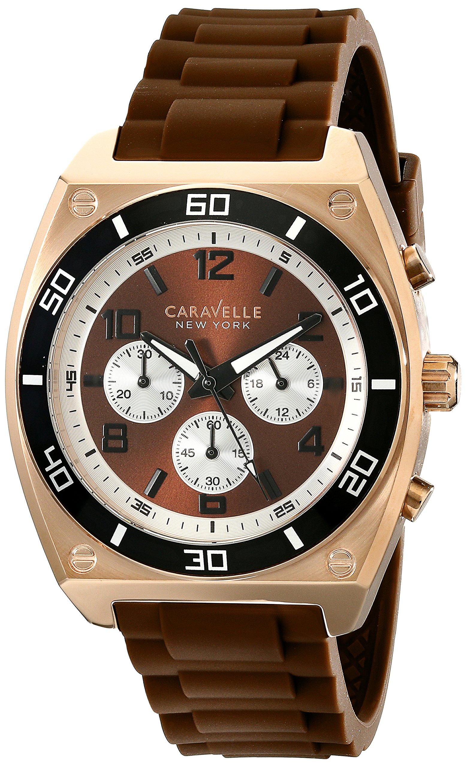 Caravelle New York Men's 45A114 Analog Display Japanese Quartz Brown Watch 8