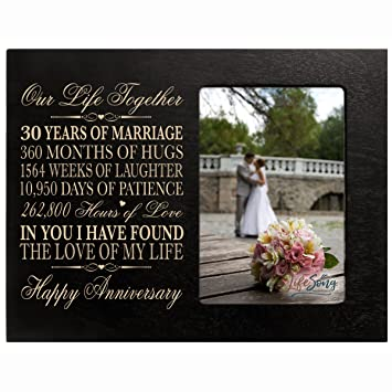 Amazon 30 Year Anniversary Picture Frame Gift For Her Him