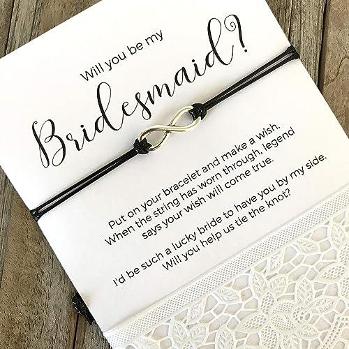 Amazon Com Bridesmaid Invitations Bridesmaid Proposal Bracelet