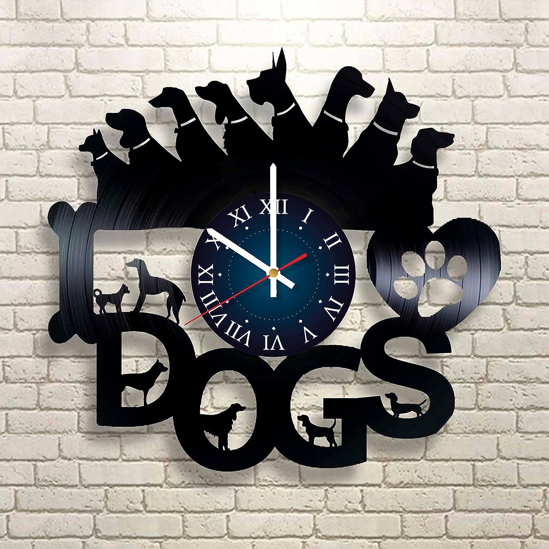 Amazon Com I Love Dogs Vinyl Record Wall Clock Get Unique