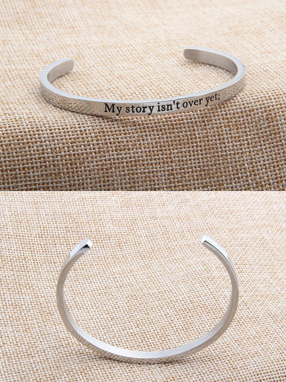Zisei ZIZEI My Story Isnt Over Yet Semi Colon Inspirational Bracelet Mental Health Awareness Jewelry Semicolon Jewelry
