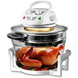 Nutrichef PKAIRFR48.5 Air Fryer, Infrared Convection, Halogen Oven Countertop, Cooking, Stainless Steel, 13 Quart 1200W…