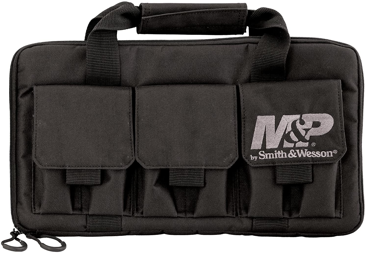 9. Smith & Wesson M&P by Pro Tac Double Handgun Case Padded Pistol Bag for Hunting Shooting Range Sport