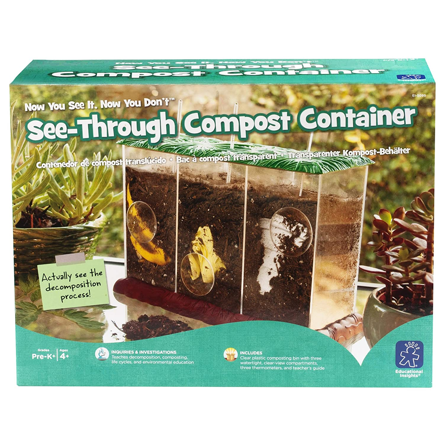 Learning Resources- Contenedor de Compost Transparente See It, Now ...