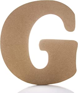 """Large Wooden Letters - 12"""" - G - Premium Unfinished Wood Letters for Wall Decor (12 inch, G)"""