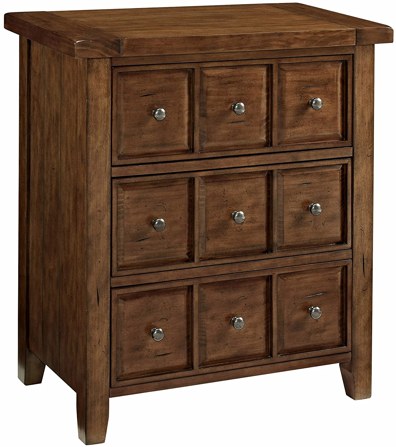Crosley Furniture CF8001-MP Sienna Apothecary-Style Accent Chest - Moroccan Pine
