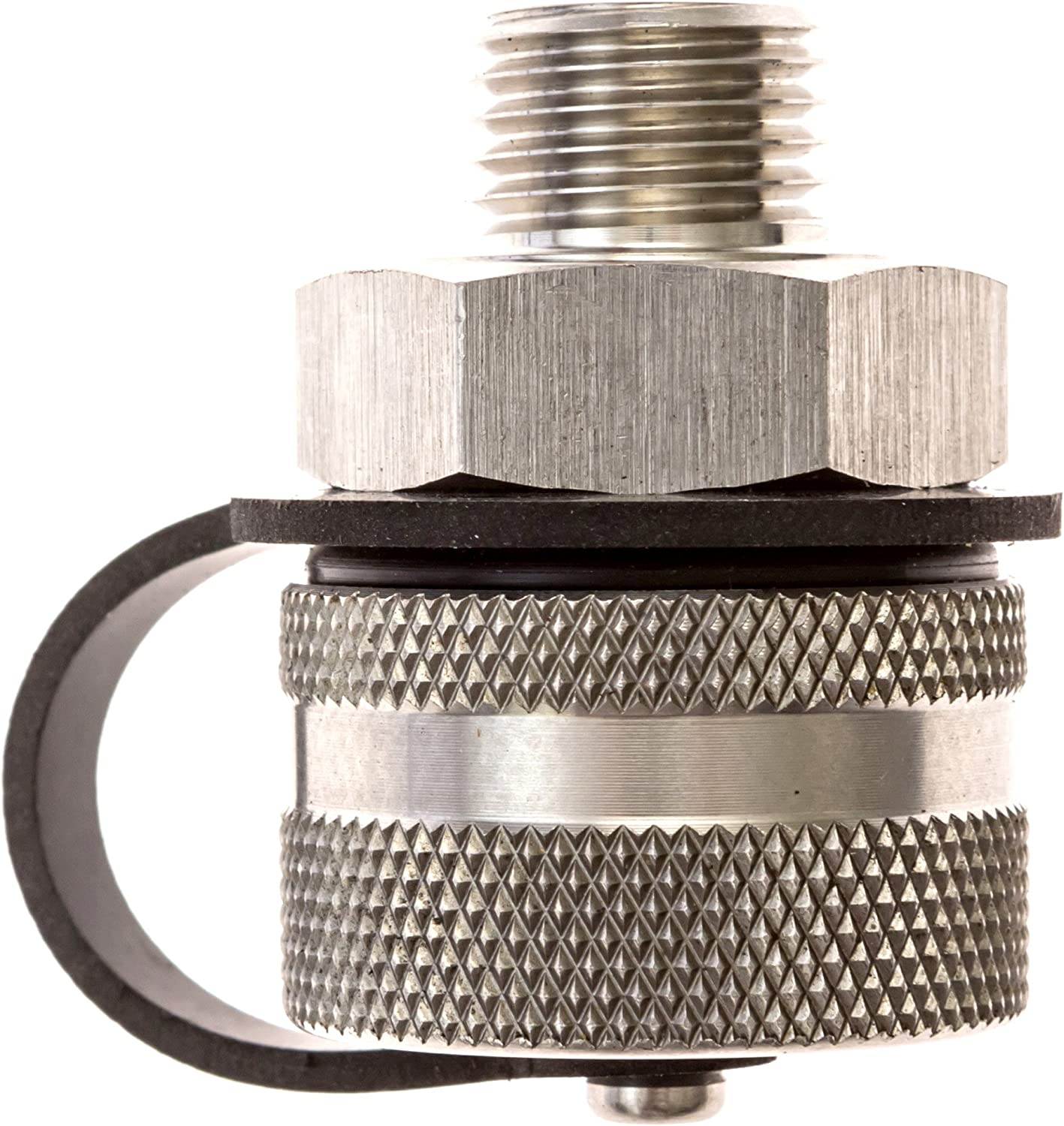 ValvoMax Oil Drain Valve - No Tools, No Mess, Fast Drain - for M16-1.50 - Stainless Drain Hose Attachment