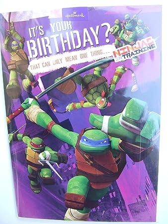 Teenage Mutant Ninja Turtles Birthday card by Hallmark Amazoncouk