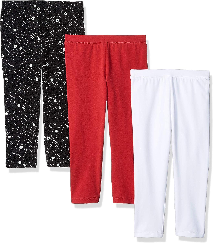 Essentials 3-Pack Capri Legging Leggings-Pants Flower//Pink//White 4T