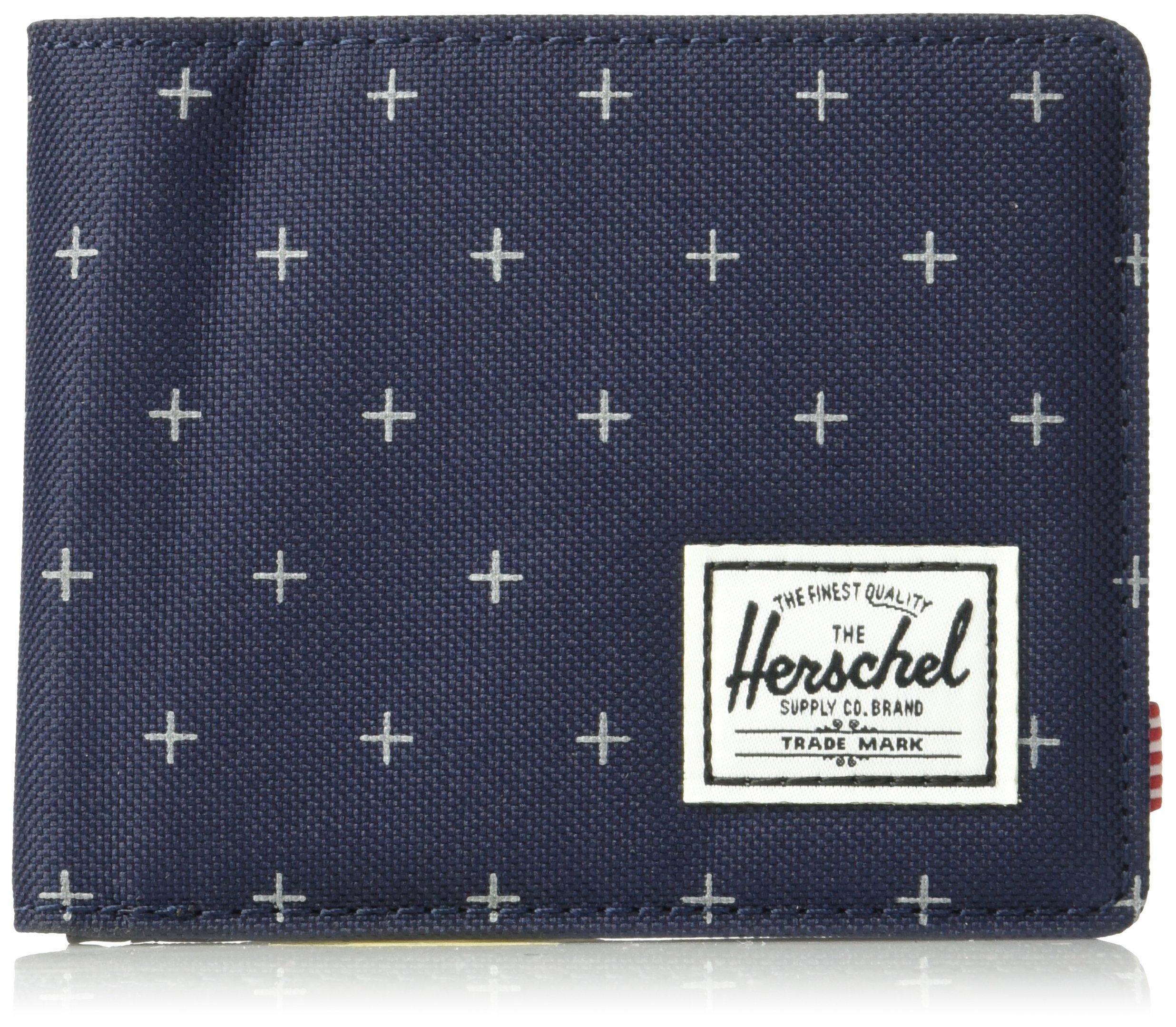Herschel Supply Co. Men's Hank Rfid Wallet, Peacoat Gridlock/Black Synthetic Leather, One Size