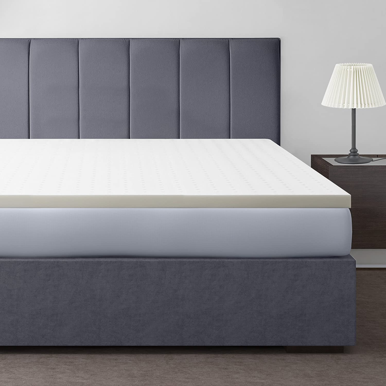 "Amazon.com: Best Price Mattress 2"" Ventilated Memory Foam Mattress Topper,  Queen: Home & Kitchen"