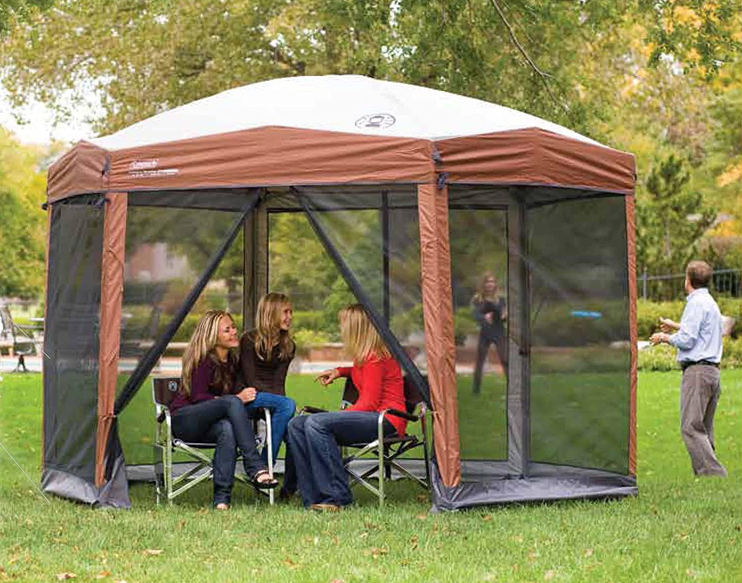 Coleman Screened Canopy Tent with Instant Setup | Back Home Screenhouse Sets Up in 60 Seconds 91QtN1G7pZL