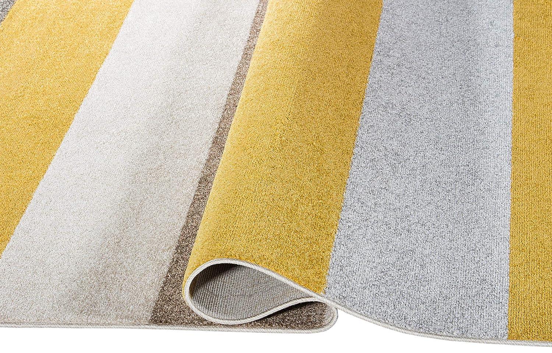 Carpetforyou Designer Moderner Kurzflor Teppich Desert Stripes