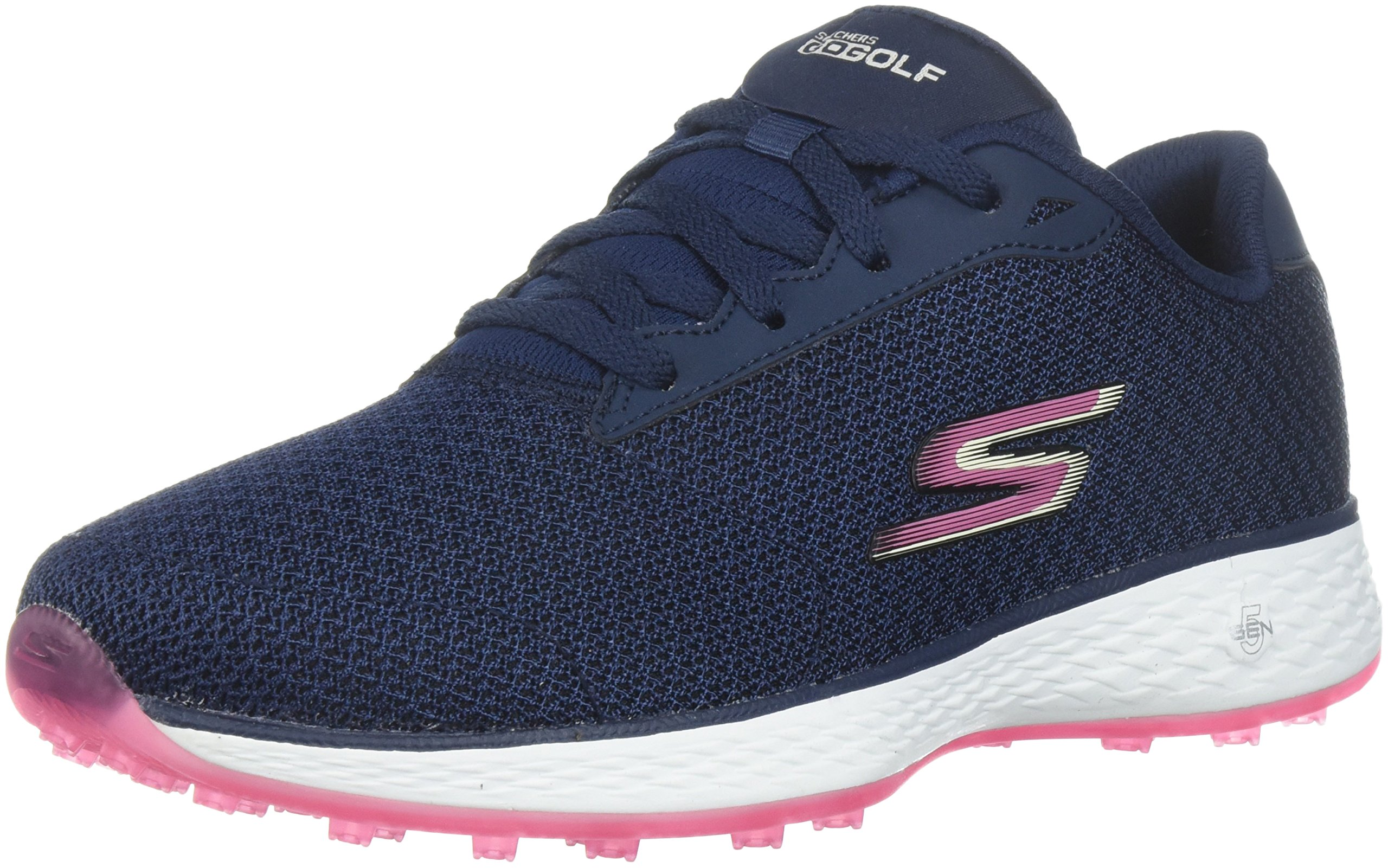 Skechers Performance Women's Go Golf Birdie Golf Shoe, Navy/Pink, 7 W US