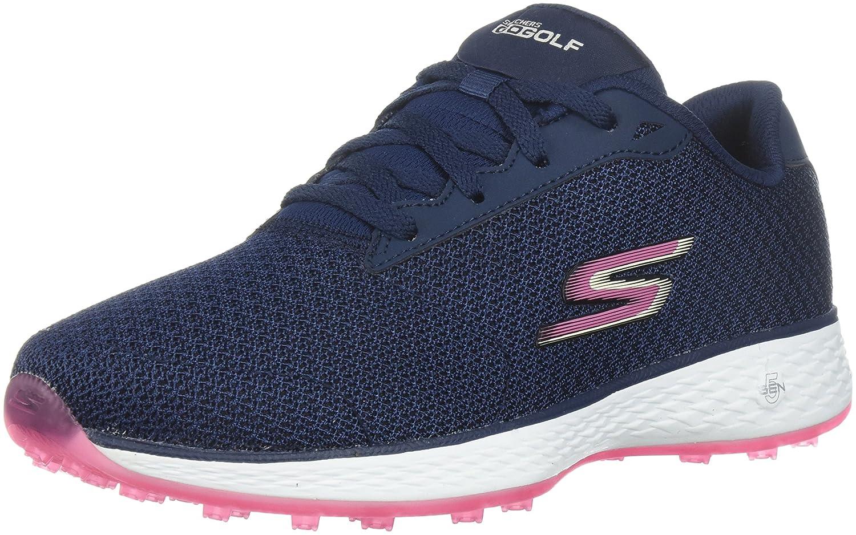 Skechers Women's Go Golf Birdie Golf Shoe B06XWWJMJK 9.5 W US|Navy/Pink Mesh
