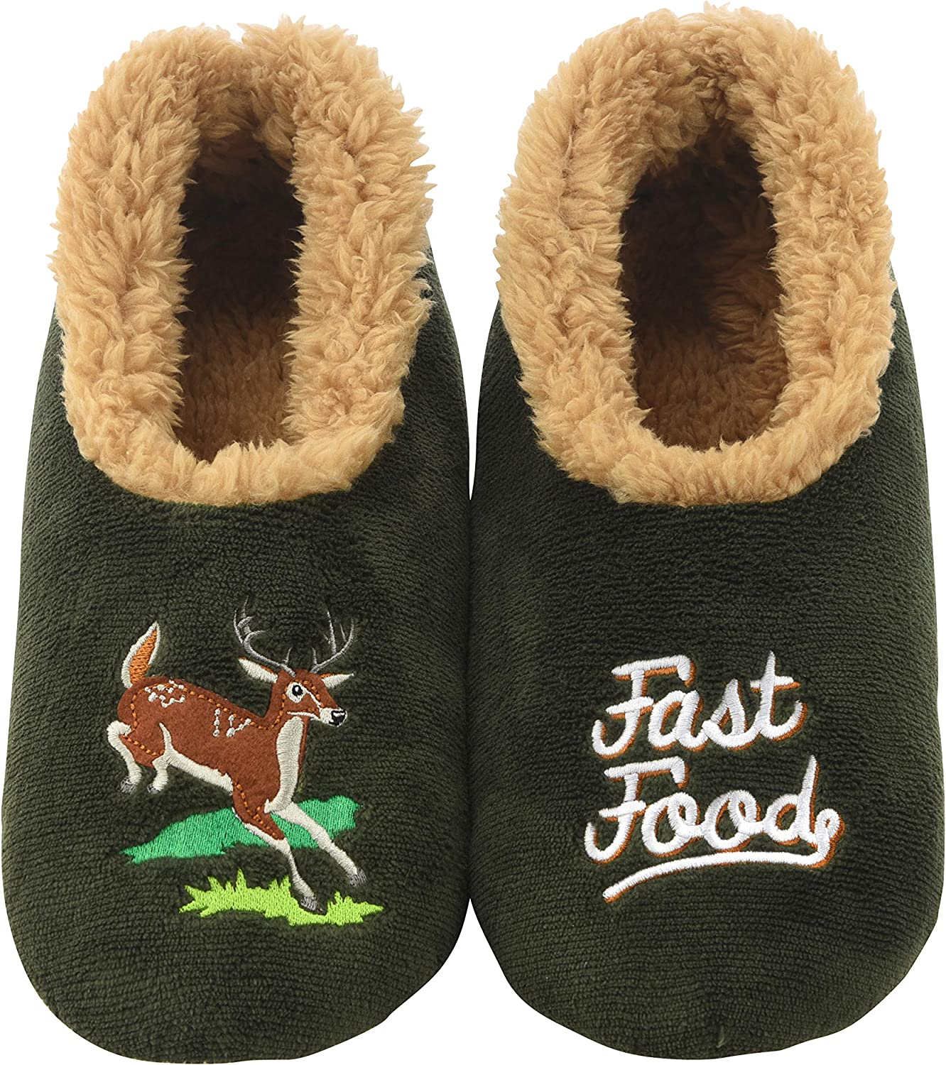 Snoozies Mens Pairable Slippers   Comfortable Slippers for Men   Fuzzy Mens Slipper Socks   Soft Sole Mens House Slippers   Multiple Sizes and Styles