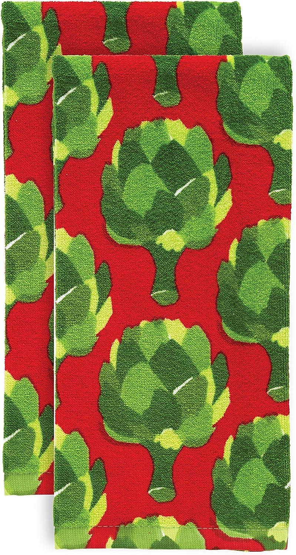 T-fal Textiles Kitchen Towel, 2 Pack, Artichokes