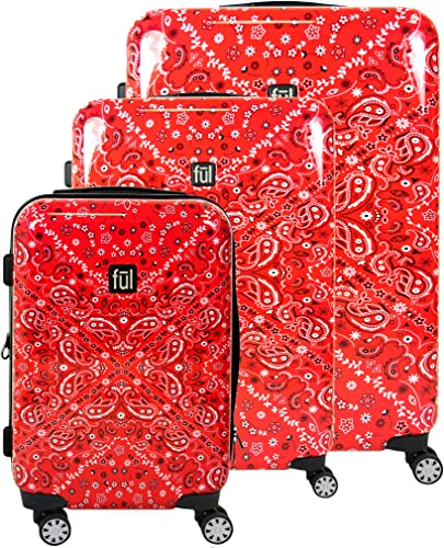 ful Women s Luggage, Red, 3 Piece Set