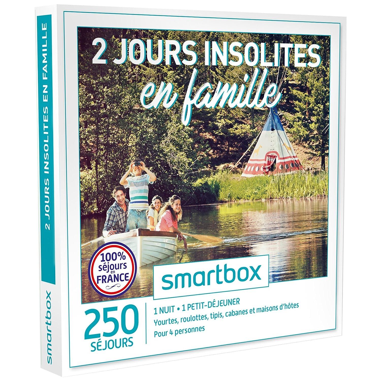 SMARTBOX - Coffret Cadeau - 2 JOURS INSOLITES EN FAMILLE - 250 : yourtes, roulottes, tipis, cabanes et maisons d'hôtes