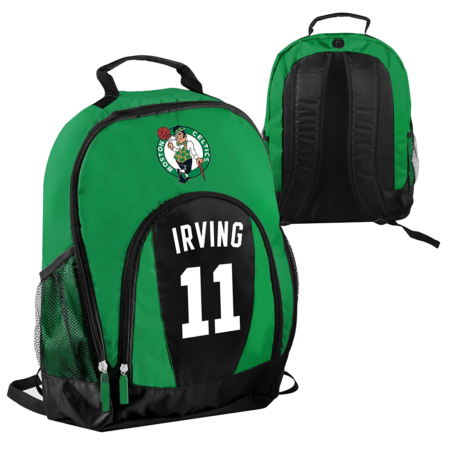 Forever Collectibles NBA Boston Celtics Kyrie Irving 11 Primetime Backpack School Gym Bag   B07BN3CRDT