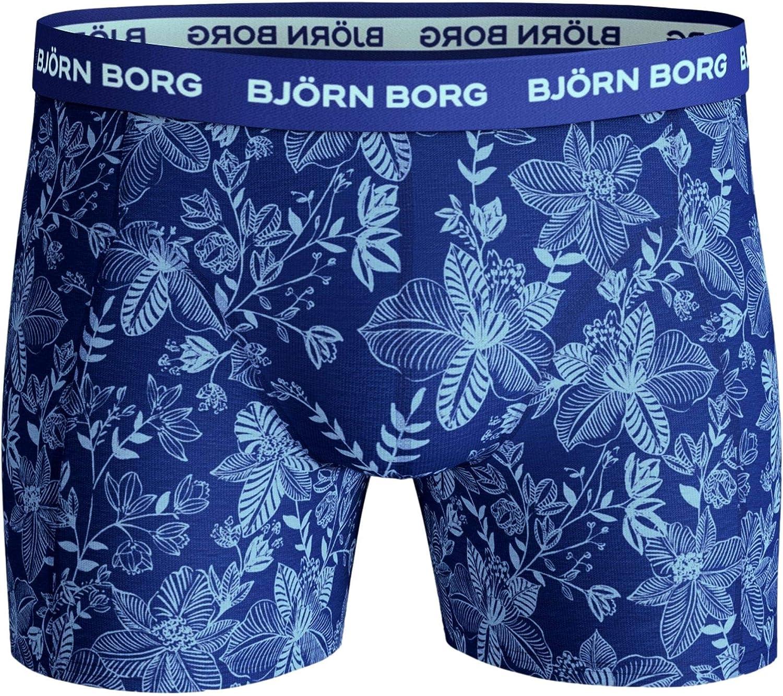 Bjorn Borg Mens 2020 BB Fiji Flower Sammy Shorts Medium Leg Boxers 26/% OFF RRP