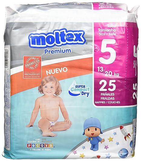 Moltex Premium Bolsa de Pañales, Talla 5, 13/20 kg - 25 Pañales