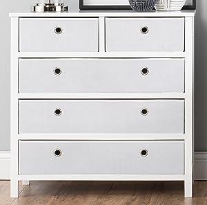 EZ Home Solutions Foldable Furniture Split Drawer Dresser, 31