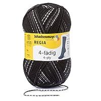 REGIA 4-Fädig Color Handstrickgarn, Sockengarn, 50g Knäuel