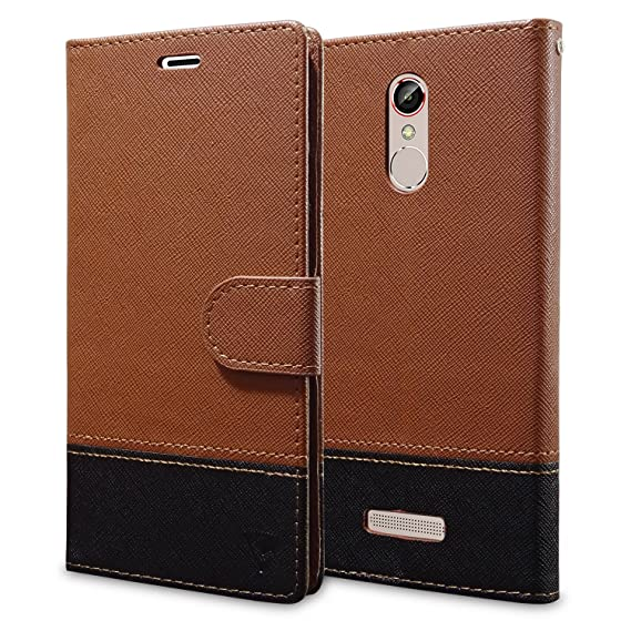 online store 812a6 221a4 Ceego Wallet Flip Cover for Gionee S6s – [Credit Card Slots & Wallet]  [Ultimate Value for Money] – EcoGo Series Gionee S6 S Flip Case (Brown / ...