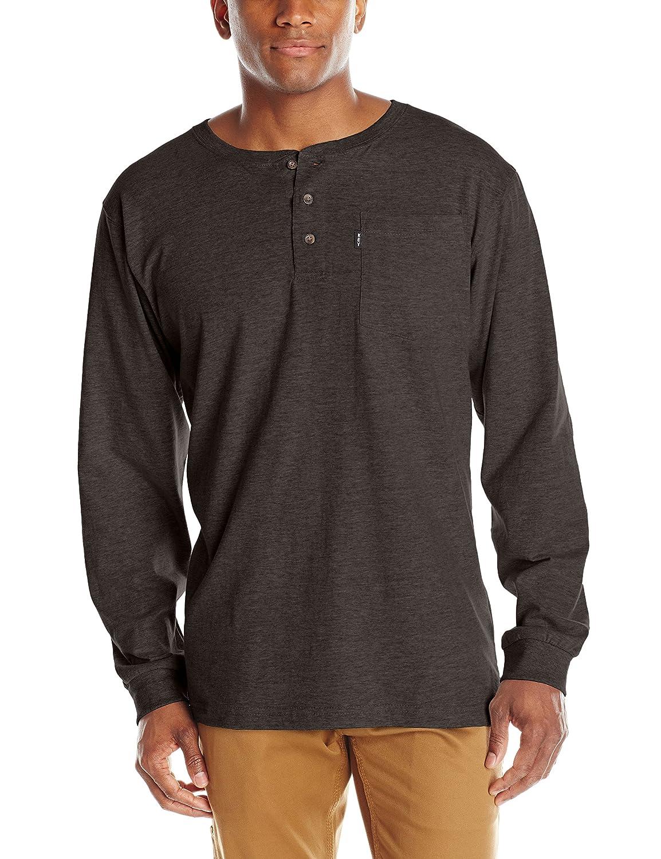 Key Apparel Men's Heavyweight 3-Button Long Sleeve Henley Pocket T-Shirt Key Industries Men' s Sportswear 865H