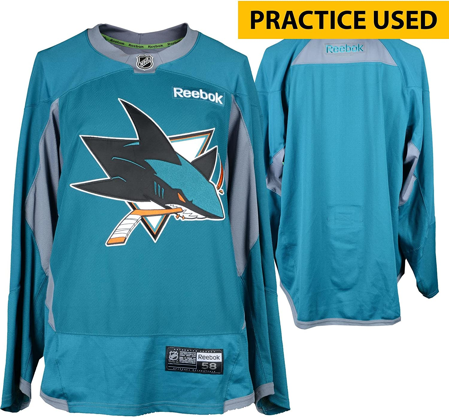 San Jose Sharks Practice-Used Teal Reebok Jersey - Size 58 - Fanatics  Authentic Certified - Game Used NHL Jerseys at Amazon s Sports Collectibles  Store 2e7352ffd45a